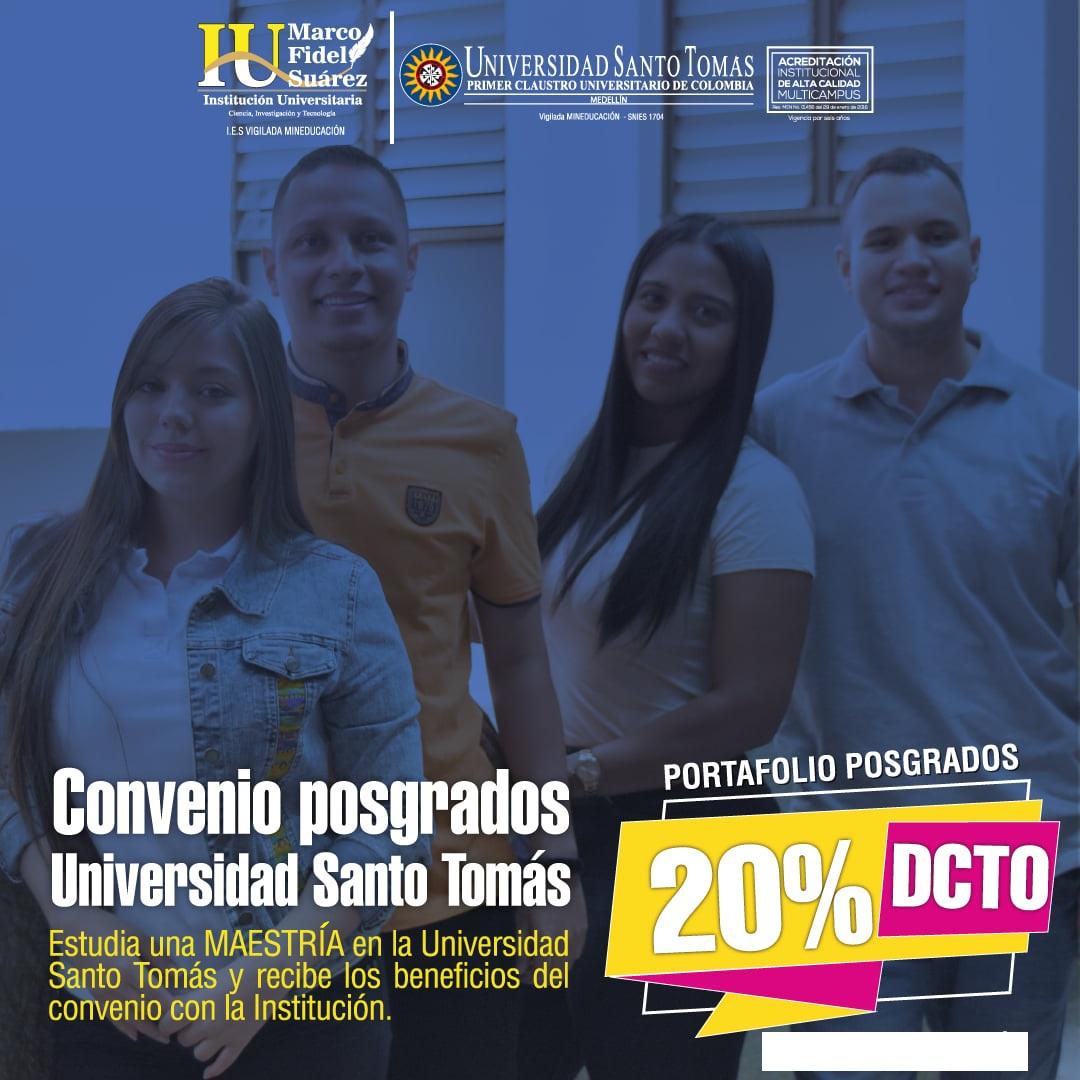 Posgrados convenio Universidad Santo Tomás