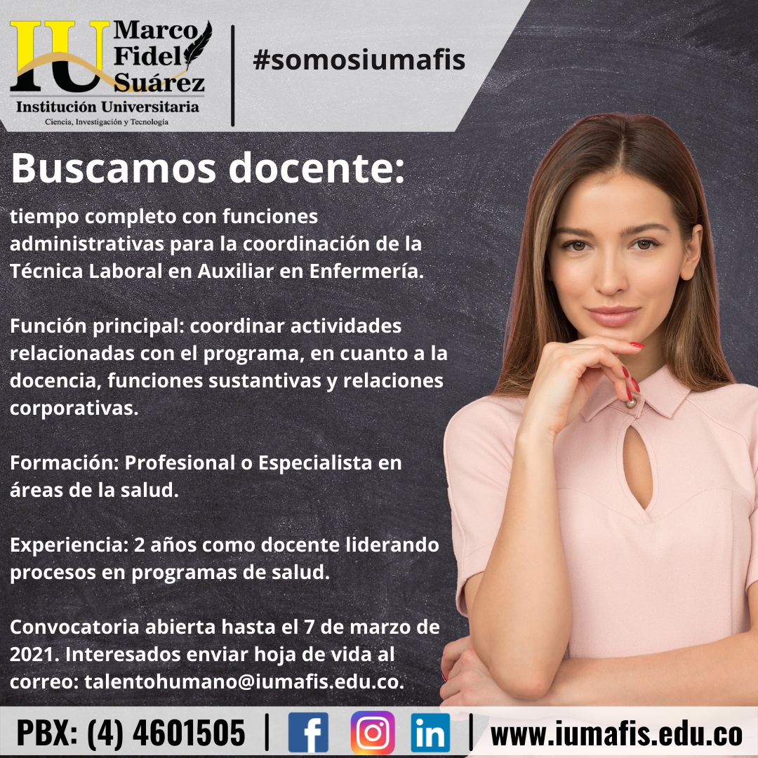 Buscamos docente