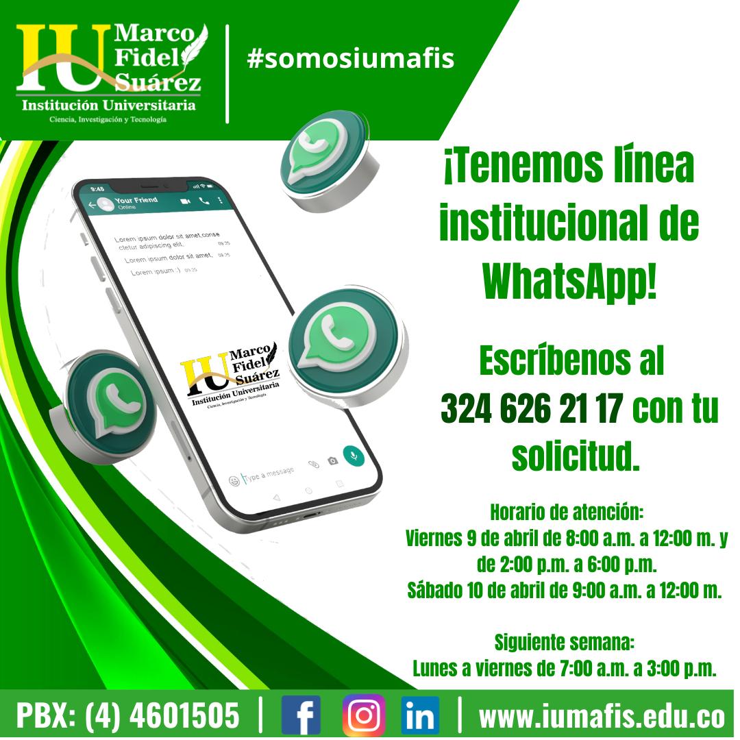 Habilitamos nuestra línea de WhatsApp Institucional