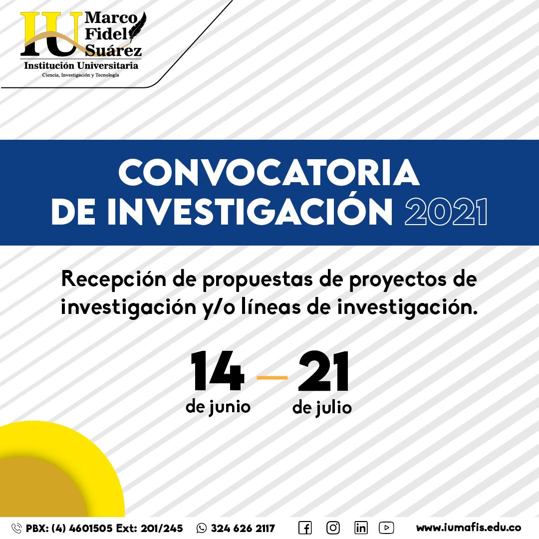 Convocatoria Institucional de Investigación 2021